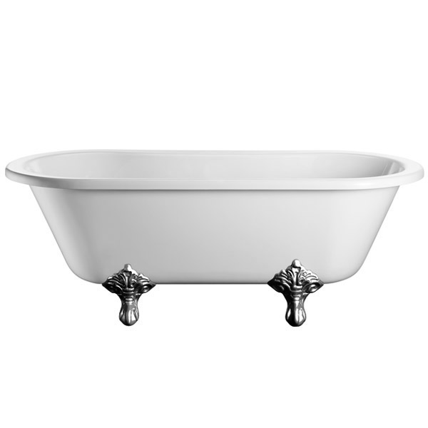 Burlington - Windsor Double Ended 1700mm Freestanding Bath with Legs In Bathroom Large Image
