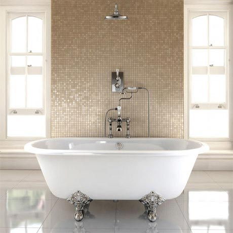 Burlington - Windsor Double Ended 1700mm Freestanding Bath with Legs