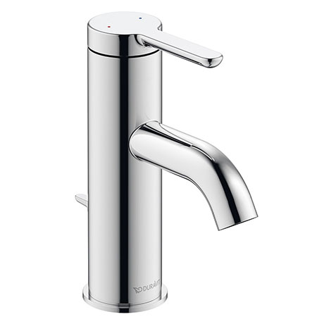 Duravit C.1 S-Size Single Lever Basin Mixer with Pop-up Waste - Chrome - C11010001010