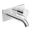 Duravit C.1 Wall Mounted Single Lever Basin Mixer - Chrome - C11070003010 profile small image view 1