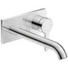 Duravit C.1 Wall Mounted Long Spout Single Lever Basin Mixer - Chrome - C11070004010 profile small image view 1