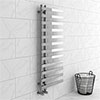 Arezzo Chrome 1200 x 500mm 12 Bars Designer Heated Towel Rail profile small image view 1