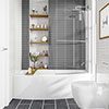 Cast 1685 x 685 Space Saving Bath with Bath Screen profile small image view 1