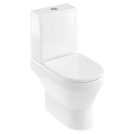 Britton Bathrooms Curve2 Rimless Close Coupled Toilet + Soft Close Seat