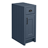 Chatsworth Blue Cupboard Unit 300mm Wide x 435mm Deep with Matt Black Handles profile small image view 1