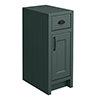 Chatsworth Green Cupboard Unit 300mm Wide x 435mm Deep with Matt Black Handles profile small image view 1