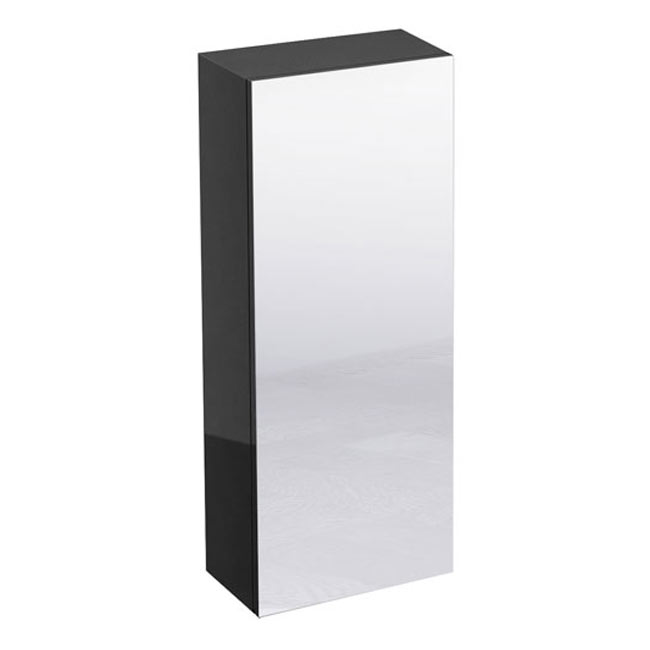 Britton Bathrooms - W300 x H750 Single Mirrored Door Wall Cabinet - Anthracite Grey profile large image view 2