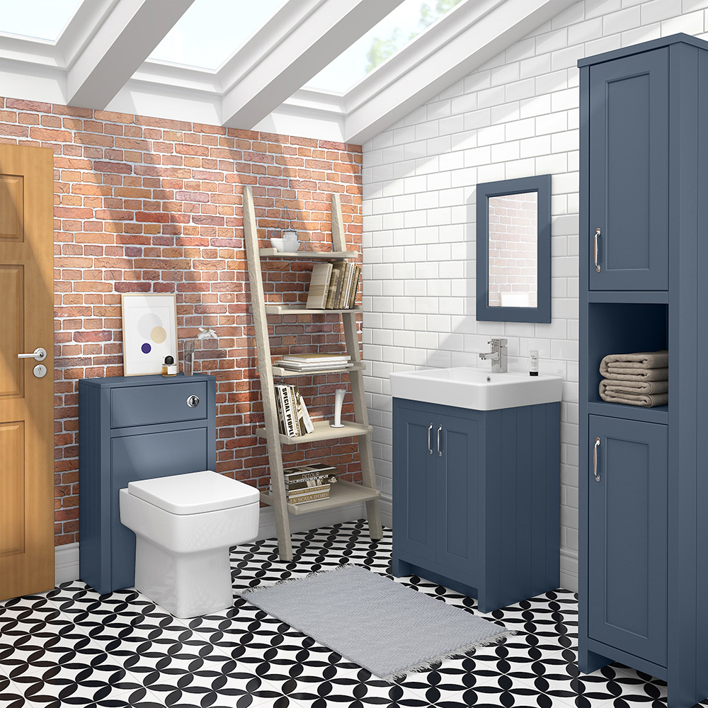 Chatsworth 3-Piece Traditional Blue Bathroom Suite ...