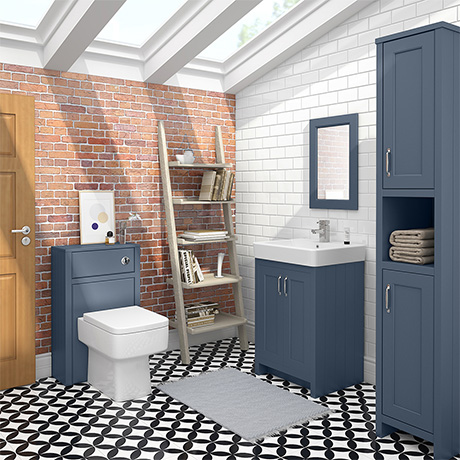 Chatsworth 3-Piece Traditional Blue Bathroom Suite
