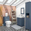 Chatsworth 3-Piece Traditional Blue Bathroom Suite profile small image view 1