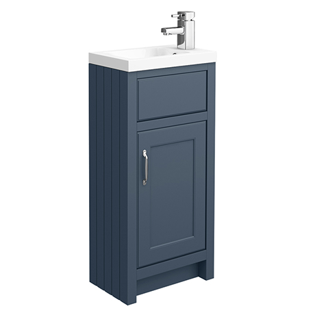 Chatsworth Traditional Blue Small Vanity - 400mm Wide