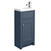 Chatsworth Traditional Blue Small Vanity - 400mm Wide profile small image view 1