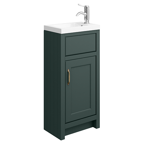 Chatsworth Traditional Green Small Vanity - 400mm Wide