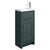 Chatsworth Traditional Green Small Vanity - 400mm Wide profile small image view 1