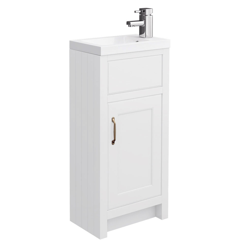 Chatsworth Traditional White Small Vanity - 400mm Wide