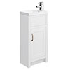 Chatsworth Traditional White Small Vanity - 400mm Wide Small Image