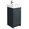 Chatsworth Traditional Graphite Vanity - 425mm Wide profile small image view 1