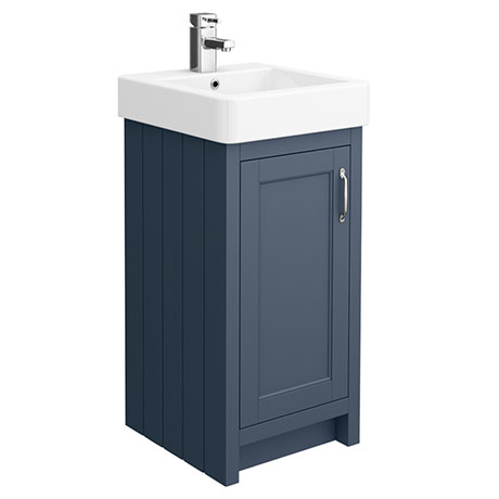 Chatsworth Traditional Blue Vanity - 425mm Wide