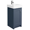 Chatsworth Traditional Blue Vanity - 425mm Wide profile small image view 1