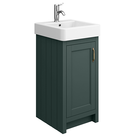 Chatsworth Traditional Green Vanity - 425mm Wide