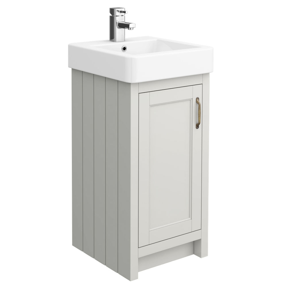 Chatsworth Traditional Grey Vanity - 425mm Wide