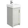 Chatsworth Traditional Grey Vanity - 425mm Wide profile small image view 1