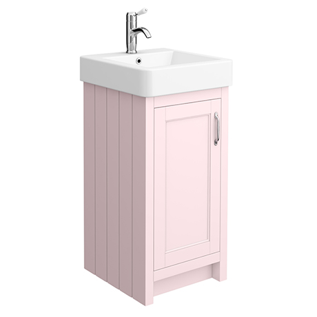 Chatsworth Traditional Pink Vanity - 425mm Wide