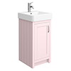 Chatsworth Traditional Pink Vanity - 425mm Wide profile small image view 1