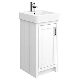 Chatsworth Traditional White Vanity - 425mm Wide