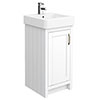 Chatsworth Traditional White Vanity - 425mm Wide profile small image view 1