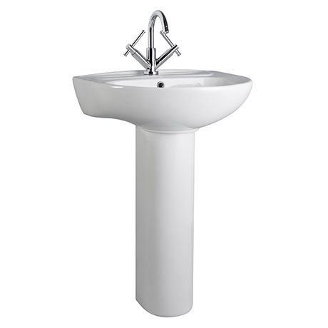 Cove 530mm Basin 1TH with Pedestal