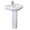 Cove 530mm Basin 1TH with Pedestal profile small image view 1