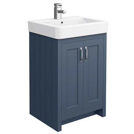 Chatsworth Traditional Blue Vanity - 560mm Wide
