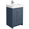 Chatsworth Traditional Blue Vanity - 560mm Wide profile small image view 1