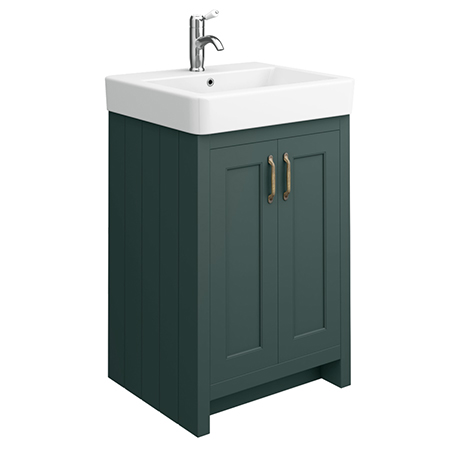 Chatsworth Traditional Green Vanity - 560mm Wide