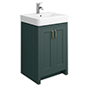 Chatsworth Traditional Green Vanity - 560mm Wide profile small image view 1