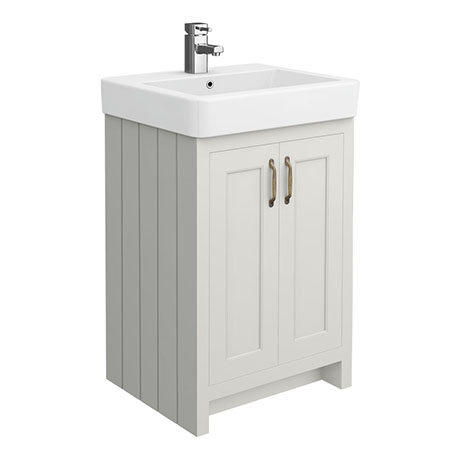 Chatsworth Traditional Grey Vanity - 560mm Wide