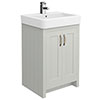 Chatsworth Traditional Grey Vanity - 560mm Wide Small Image