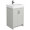 Chatsworth Traditional Grey Vanity - 560mm Wide profile small image view 1