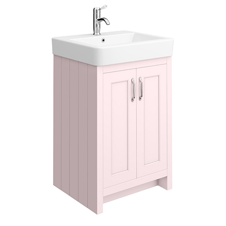 Chatsworth Traditional Pink Vanity - 560mm Wide