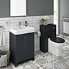 Chatsworth Traditional Graphite Sink Vanity Unit + Toilet Package profile small image view 1