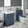 Chatsworth Traditional Blue Sink Vanity Unit + Toilet Package profile small image view 1