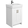 Chatsworth Traditional White Vanity - 560mm Wide profile small image view 1