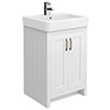 Chatsworth Traditional White Vanity - 560mm Wide Small Image