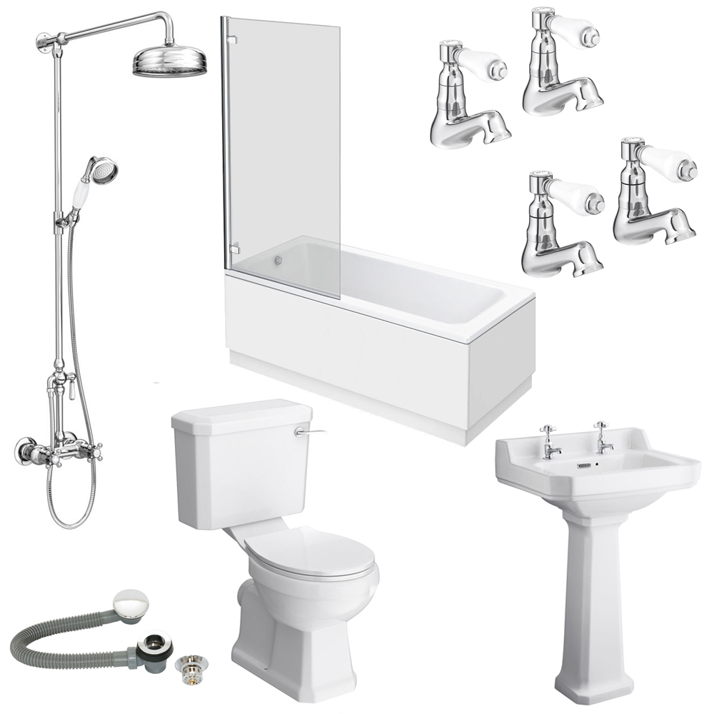 Carlton 560 Complete Traditional Bathroom Package