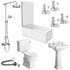 Carlton 560 Complete Traditional Bathroom Package profile small image view 1