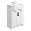Chatsworth Traditional White Semi-Recessed Vanity - 600mm Wide profile small image view 1