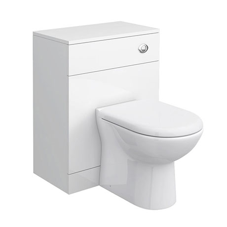 Cove 600mm BTW Toilet Unit Inc. Cistern + Soft Close Seat (Depth 330mm)