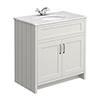 Chatsworth Grey 810mm Vanity with White Marble Basin Top profile small image view 1
