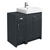 Chatsworth Traditional Graphite 560mm Vanity Sink + 300mm Cupboard Unit profile small image view 1